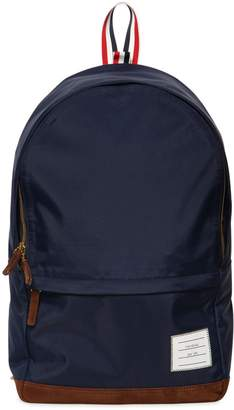 Thom Browne Soft Tech Nylon & Suede Backpack