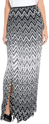 Krizia Chevron Pleated Skirt