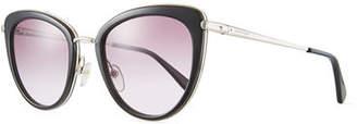 Longchamp Acetate & Metal Cat-Eye Sunglasses