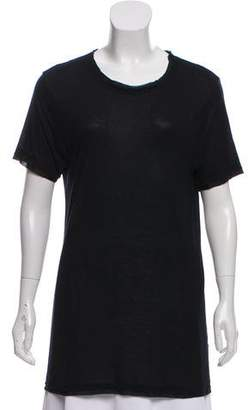 Lanvin Raw-Edge-Trimmed Short Sleeve T-Shirt