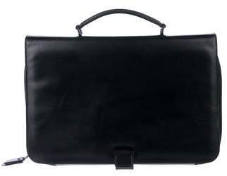 Lanvin Bicolor Leather Top Handle Tablet Case