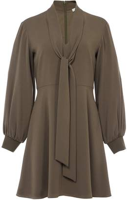 Tibi Savanna Crepe Gibson Tie Dress