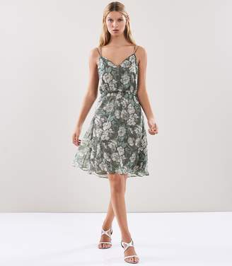 Reiss MARA FLORAL PRINT DRESS Grey Floral