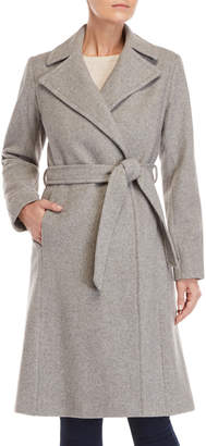 Lauren Ralph Lauren Wool Belted Wrap Coat