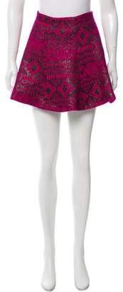 Lovers + Friends Brocade Mini Skirt