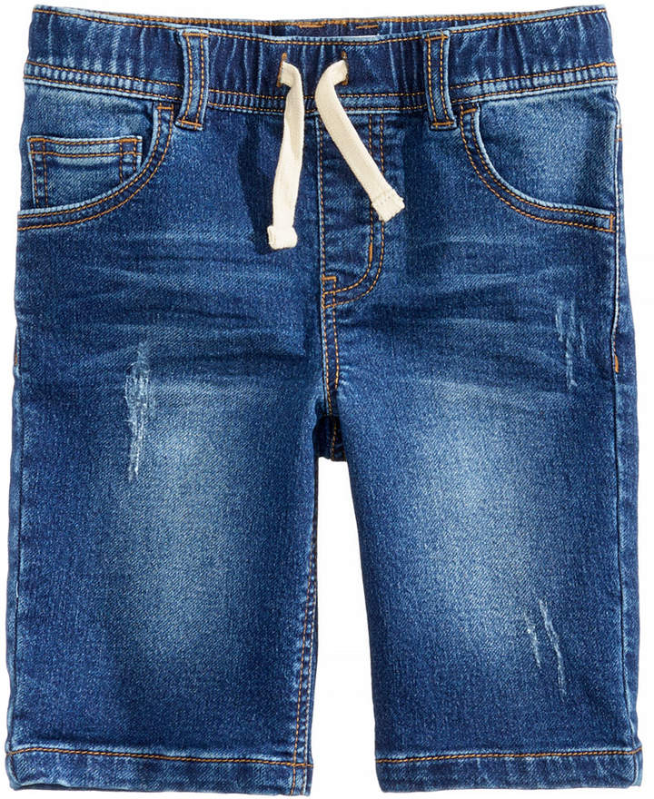 Denim Knit Shorts, Little Boys, Created for Macy's