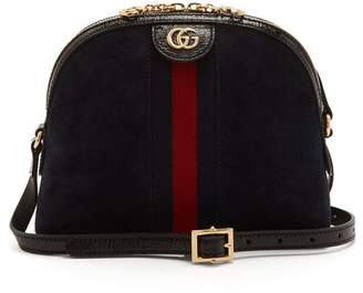 Gucci Ophidia Gg Suede Cross Body Bag - Womens - Navy Multi