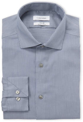 Calvin Klein Blue Steel Slim Fit Dress Shirt
