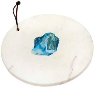 Godinger Round Marble Agate Cutting Board