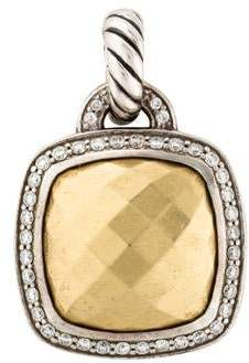 David Yurman Albion Diamond & Gold Dome Pendant