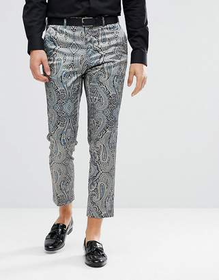 Asos DESIGN Skinny Crop Smart Pants With Paisley Print