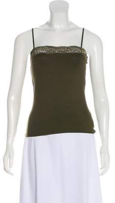 Ralph Lauren Black Label Sleeveless Lace-Trim Top w/ Tags
