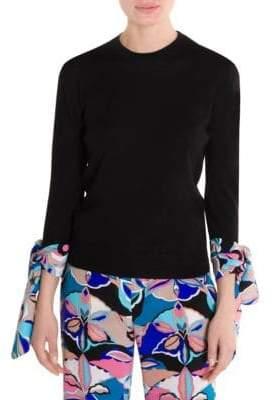 Emilio Pucci Cashmere& Silk Scarf Cuff Sweater
