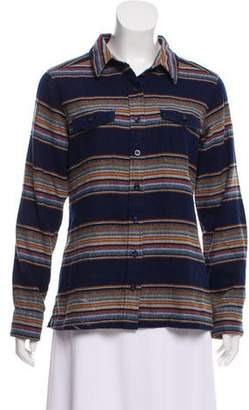 Patagonia Striped Button-Up Top