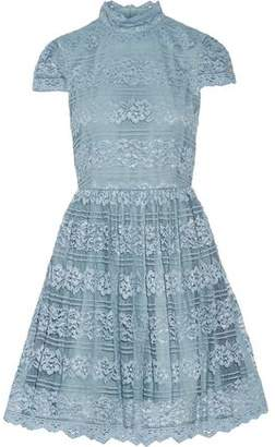 Alice + Olivia Maureen Lace Mini Dress