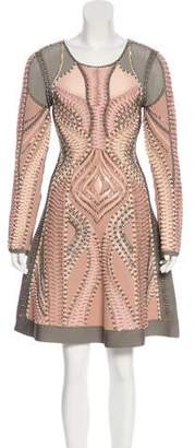Herve Leger Abelle Embellished Dress