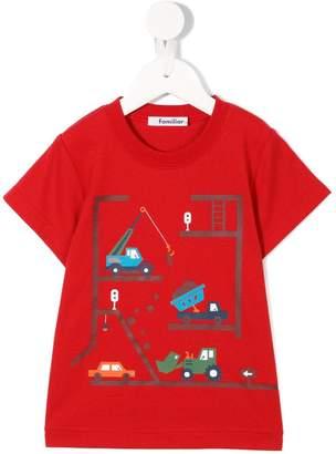 Familiar construction print T-shirt