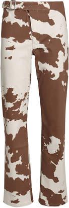 Miaou Lou Cropped Cow-Print Jeans