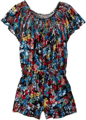 Ella Moss All Over Print Voile Romper Girl's Jumpsuit & Rompers One Piece