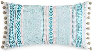 Sky Camila Embroidered Foulard Stripe Decorative Pillow, 14 x 26 - 100% Exclusive