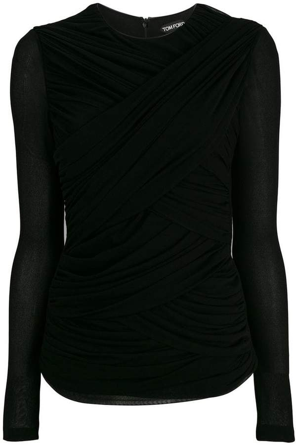 Tom Ford ruched fitted top