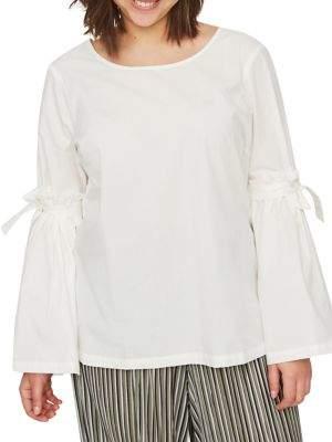 Junarose Plus Vayana Long-Sleeve Cotton Blouse