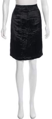 Emilio Pucci Knee-Length Velour Skirt Black Knee-Length Velour Skirt