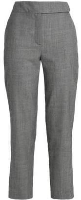 Osman Cropped Houndstooth Wool Slim-Leg Pants