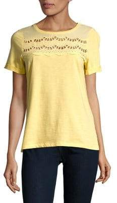 Dorothy Perkins Short Sleeve Lace Inset Tee