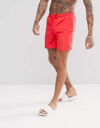 Lyle & Scott Swim Shorts In Red