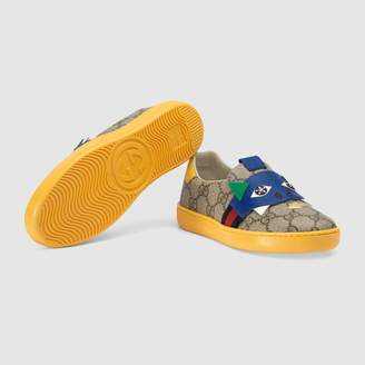 Gucci Children's Ace GG sneaker with dinosaur