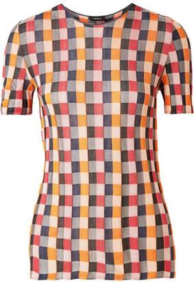 Akris Intarsia Silk Top - Orange
