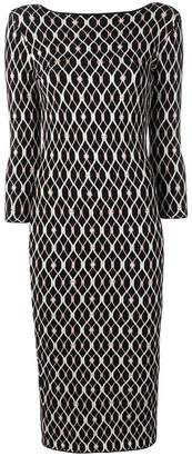 Elisabetta Franchi boat neck dress