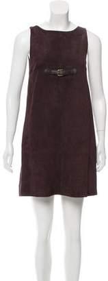 Paule Ka Suede Mini Dress