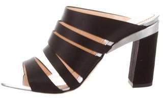 Jerome C. Rousseau Satin Multistrap Sandals w/ Tags