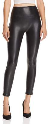 Olivaceous Faux-Leather Leggings