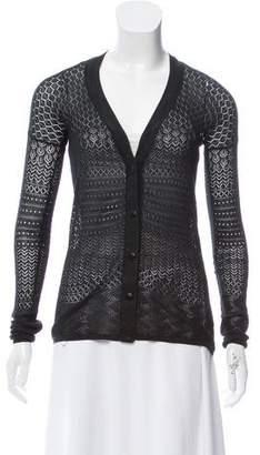 Proenza Schouler Silk-Blend Pointelle-Knit Cardigan