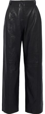 Bess Leather Wide-Leg Pants
