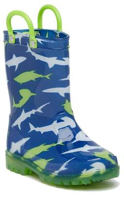 LILLY OF NEW YORK Sharks Light Up Rainboot (Toddler & Little Kid)