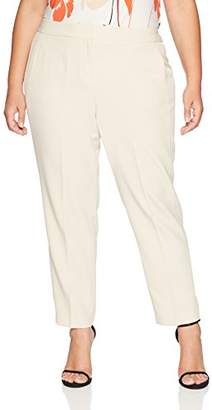 Kasper Women's Size Plus Stretch Crepe Pant