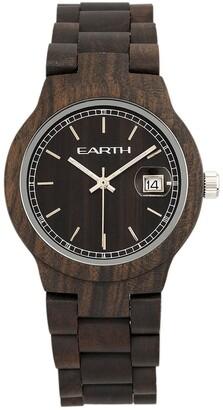 Earth Wood Unisex Black Rock Watch