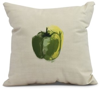 Simply Daisy, 26 x 26 inch,Pepper Decorative Pillow,Green