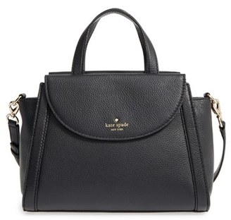 Kate Spade New York Cobble Hill - Medium Adrien Leather Satchel - Black $378 thestylecure.com