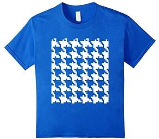Houndstooth Pattern T-Shirt Scottish Lowlands Graphic Tee