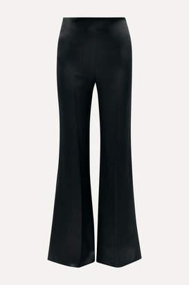 Joseph Devyn Silk-satin Wide-leg Pants - Black
