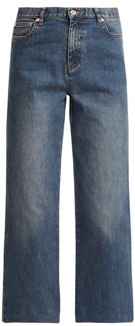Sailor high-rise cropped jeans