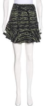 Marissa Webb Fluted Patterned Skirt