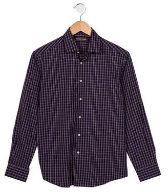 Michael Kors Boys' Plaid Collared Shirt w/ Tags