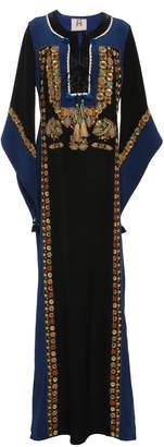 Figue Lynx Embellished Silk Maxi Dress