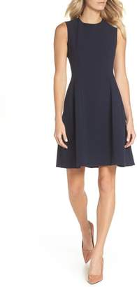 Eliza J Sleeveless Crepe Fit & Flare Dress